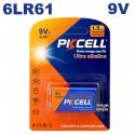 Blister x1 Pile 6LR61 9V Ultra Alcaline PKCell - Projecteur LED Shop