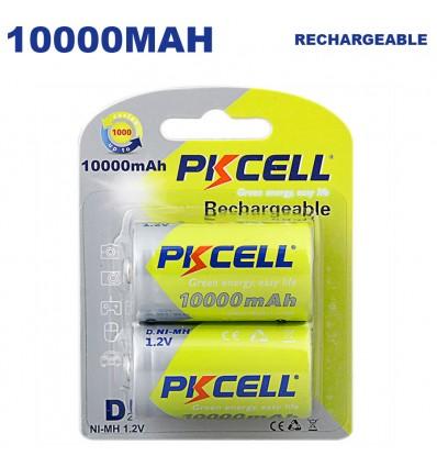 Blister x2 Piles Rechargeables D10000mAh PKCell - Projecteur LED Shop