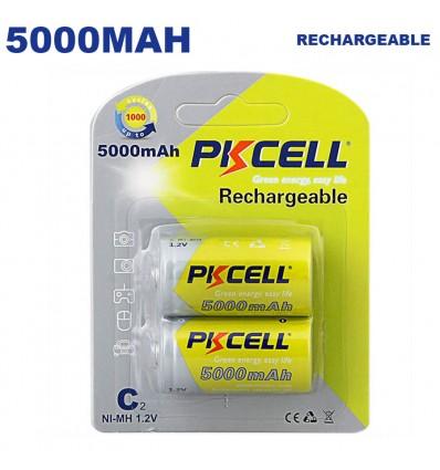 Blister x2 Piles Rechargeables 5000mAh PKCell - Projecteur LED Shop
