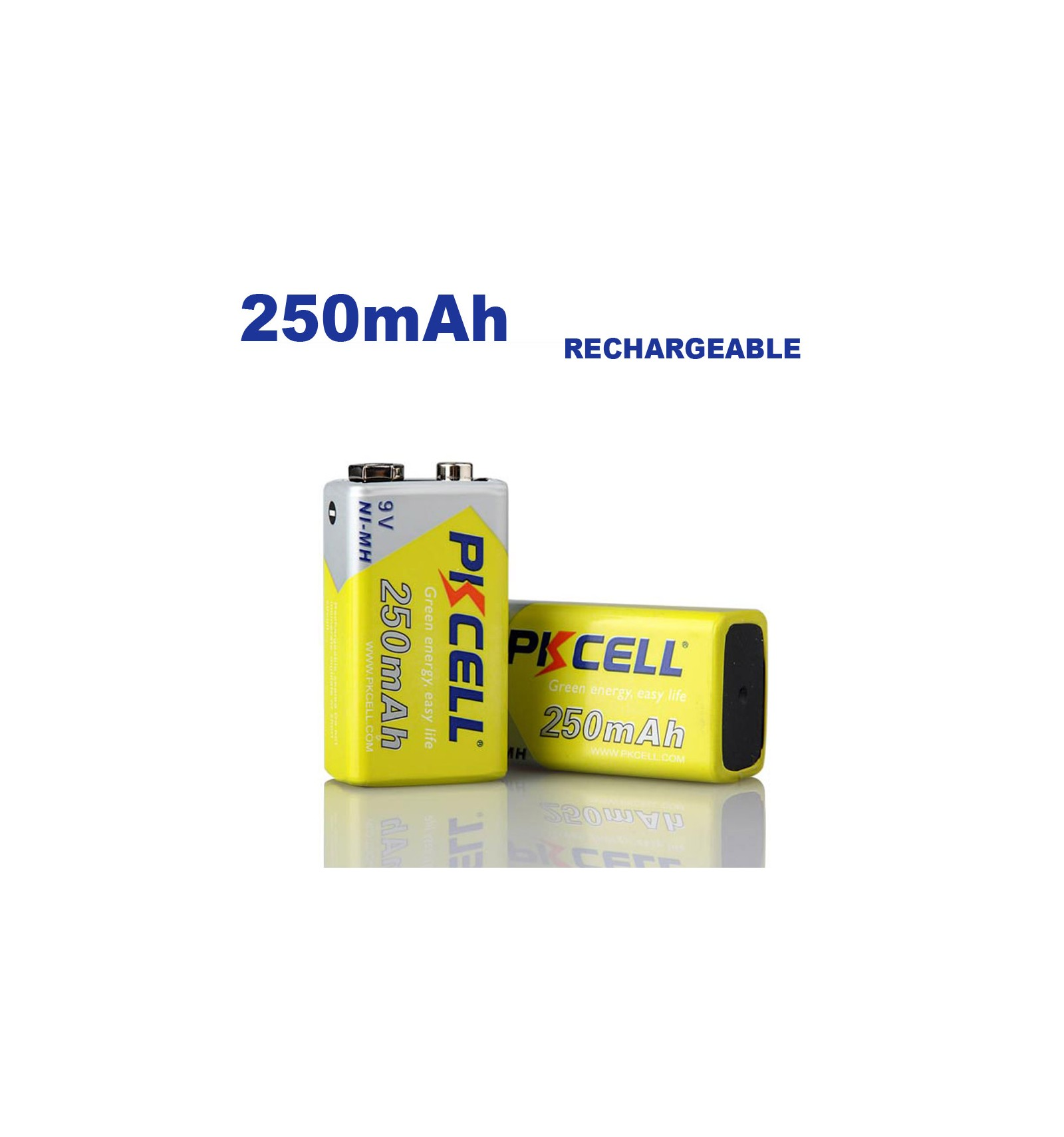 blister x1 ni mh pile rechargeable 250mah 9v pkcell. Black Bedroom Furniture Sets. Home Design Ideas