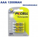 Blister x4 NI-MH Piles Rechargeables AAA 1200mAh 1.2V PKCell