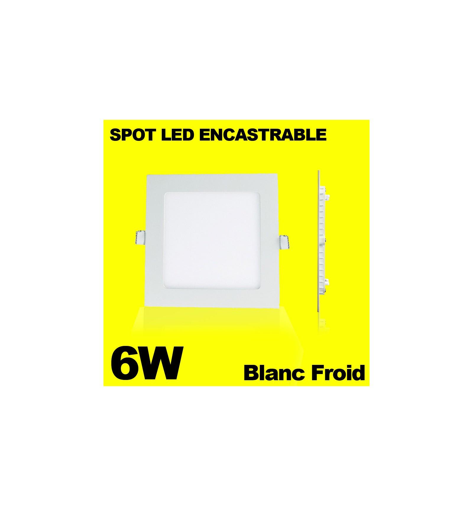 spot encastrable led carre downlight panel extra plat 6w. Black Bedroom Furniture Sets. Home Design Ideas