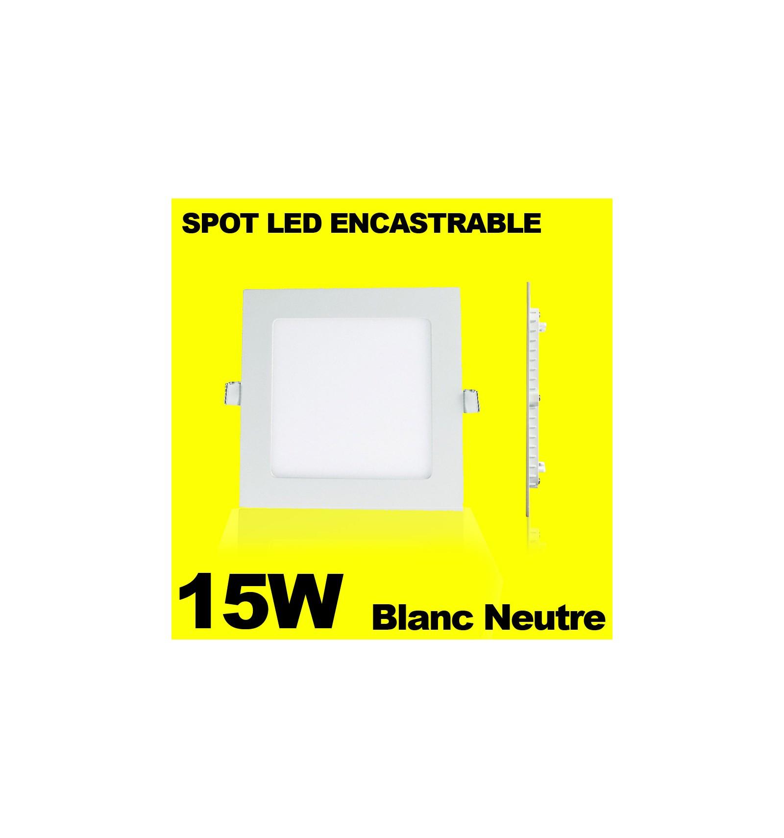 spot encastrable led carre downlight panel extra plat 15w. Black Bedroom Furniture Sets. Home Design Ideas