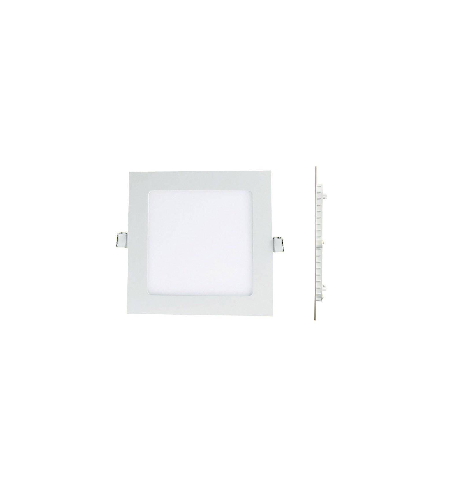 spot encastrable led carre downlight panel extra plat 3w blanc froid 6000k. Black Bedroom Furniture Sets. Home Design Ideas