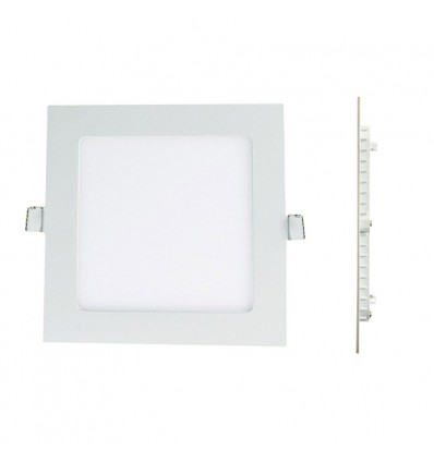 Spot Encastrable LED Carre Downlight Panel Extra-Plat 12W Blanc Chaud 6000k