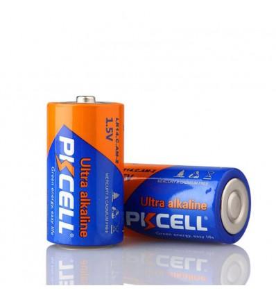 Blister x2 Piles LR14 Ultra Alcaline PKCell 1.5V- Projecteur LED Shop