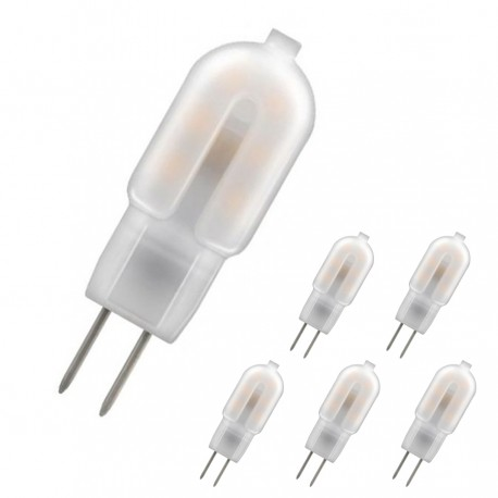 Lot de 5 G4 LED 1.5W/12V blanc chaud 3000k