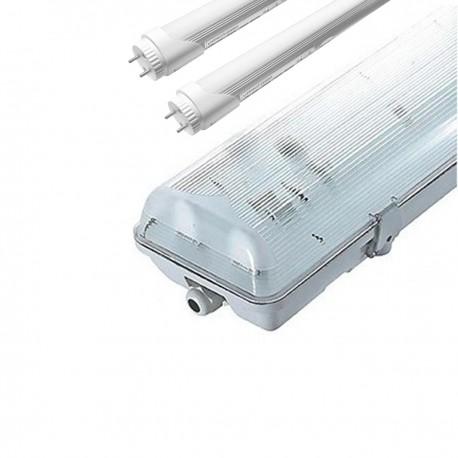 Kit 2 tubes led 150cm 6000K + boitier étanche IP65