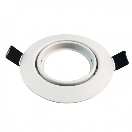 Support Spot LED Orientable Rond D90 Blanc