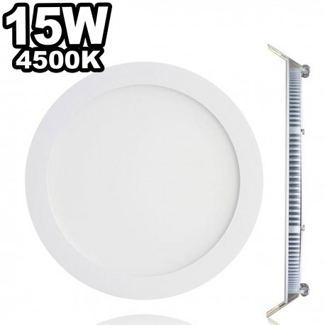Spot Encastrable LED Downlight Panel Extra-Plat 15W Blanc Neutre 4500k