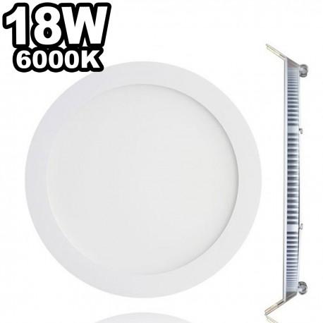 Spot Encastrable LED Downlight Panel Extra-Plat 18W Blanc Chaud 3000K