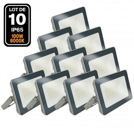 Lot de 10 Projecteurs LED 100W ProLine 6000K