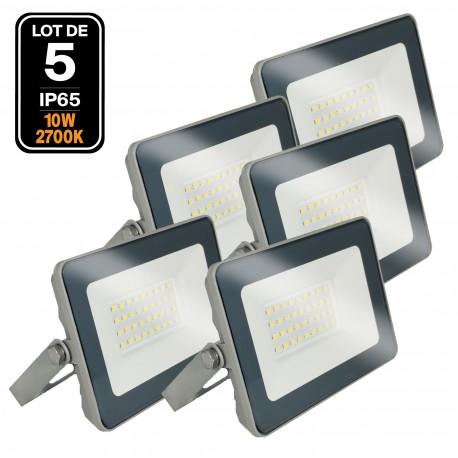 Lot de 5 Projecteurs LED 10W ProLine 2700K Haute Luminosité