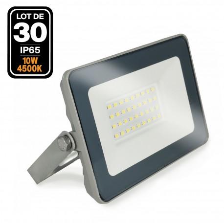 Lot de 30 Projecteurs LED 10W ProLine 4500K Haute Luminosité