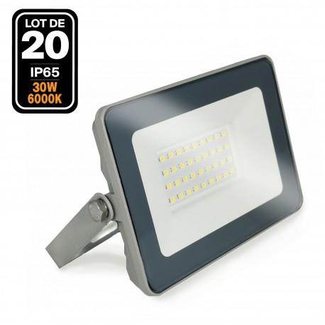 20 Projecteurs LED 30W ProLine Blanc froid 6000K Haute Luminosité