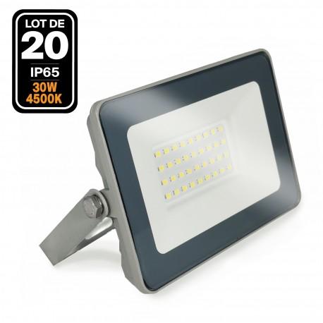 20 Projecteurs LED 30W ProLine Blanc neutre 4500K Haute Luminosité
