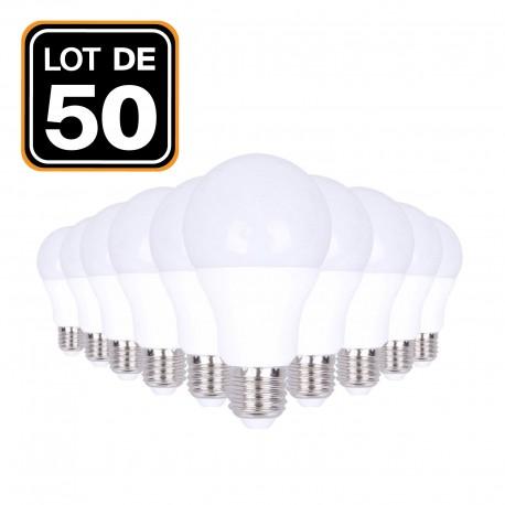 Lot 50 Ampoules LED E27 20W 6000K Blanc Froid Haute Luminosité