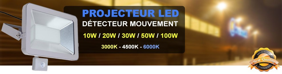 Projecteur LED Detecteur Mouvement