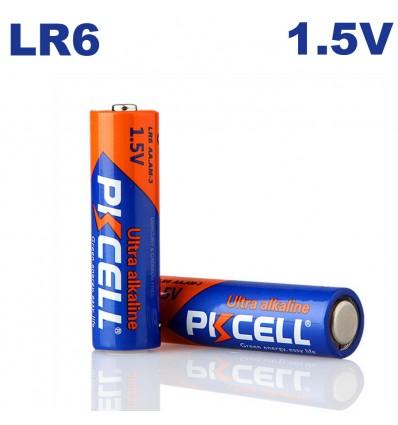 Piles Alkaline PKCell AA LR6 1.5V par 4 - Projecteurs LED Shop