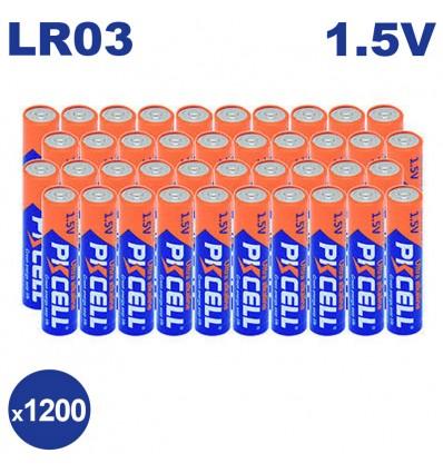 Lot de 1200 Piles AAA LR03 Ultra Alcaline PKCell 1.5V