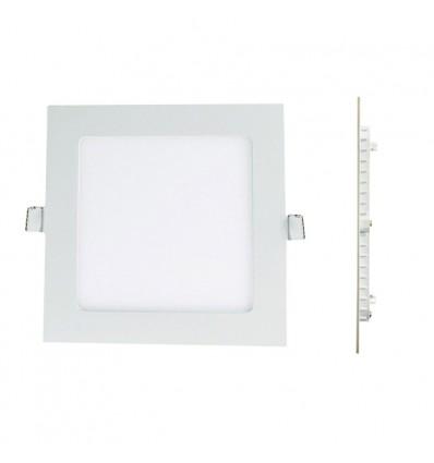 Spot Encastrable LED Carre Downlight Panel Extra-Plat 6W Blanc Chaud 3000k