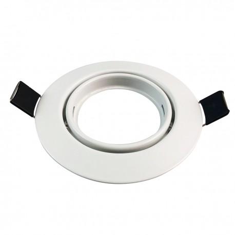 Support Spot LED Orientable Rond 90mm trou de perçage 65mm