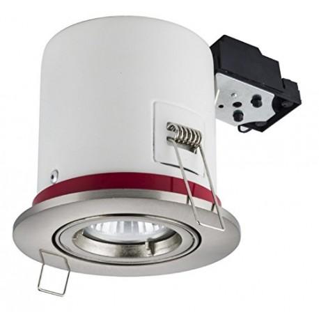 Support Spot BBC Orientable INOX + Ampoule GU10 5W Blanc Neutre + Douille