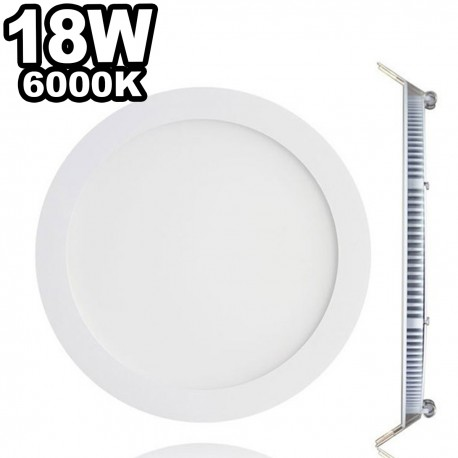 Spot Encastrable LED Downlight Panel Extra-Plat 18W Blanc Chaud 3000K