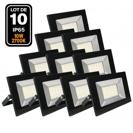 10 Projecteurs Led 10W Ipad 2700k Haute Luminosité