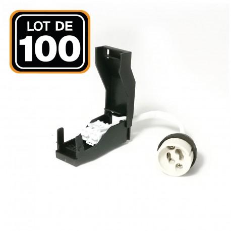 Lot de 100 Douilles GU10 Céramique Automatique 230V classe 2