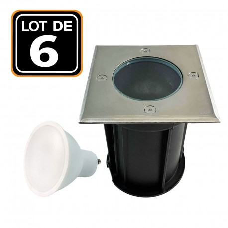 Spot Encastrable Sol Exterieur IP65 Douille GU10