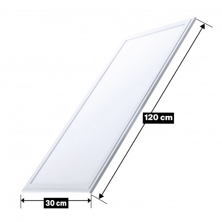 Dalle LED 40W 120X30 PMMA Blanc Neutre 4000k Haute Luminosité
