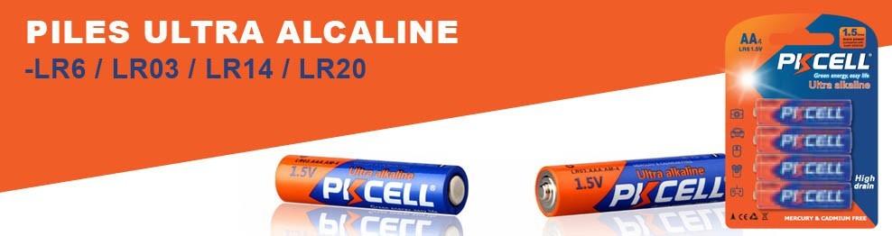 Lots de Piles Ultra Alcaline PKCell